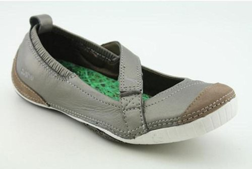 Cushe Boutique Ballet Womens Leather Ballet Flats Shoes Champagne Gray 9 Medium