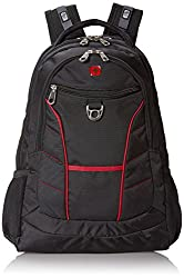 SwissGear 1775 Black Laptop Backpack with Red Accents