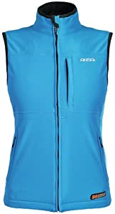 Mobile Warming Classic Ladies Street Bike Motorcycle Vest - Light Blue by Mobile Warming