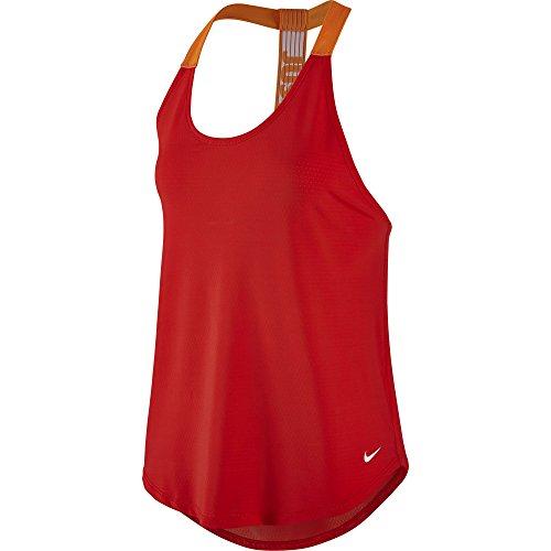 Women's Nike Training Tank Crimson/Bright Mandarin/White Size Medium