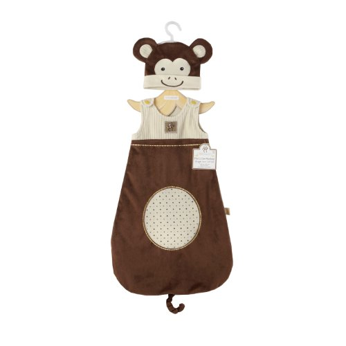 "Baby Aspen ""My Little Monkey"" Snuggle Sack and Cap, 0-6 Months"