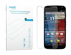 Moto X Screen Protector - NOOT 0.33mm Tempered Glass Crystal Clear l Slim l Anti Finger Print l Scratch Proof and Light weight Screen Protector for [2013] Motorola Moto X 1st Generation (XT1049, XT1050, XT1052, XT1053, XT10
