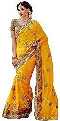 Hari Krishna sarees Beautiful And Alluring Tussar Silk Saree With Silk Dhupion Blouse./f155