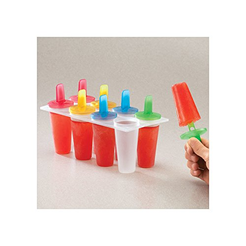 Popsicle Maker - Freezer Ice Pop Mold: Makes 8 Individual Popsicles. Great For Kids, Parties, And Hot Summer Days