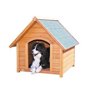 Amazoncom log cabin dog house size medium 3225quot h x for Dog houses for medium dogs