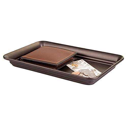 mDesign Storage Organizer Tray for Watches, Eyeglasses, Cologne - Bronze (Vanity Tray Bronze compare prices)
