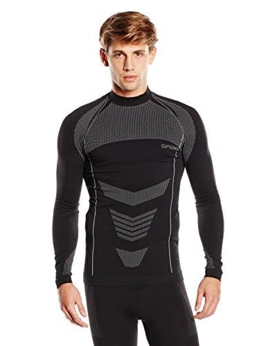 SPAIO ® Maglia Tecnica  Thermo Men'S Long Sleeve Shirt W03 [Grigio Scuro/Grigio]