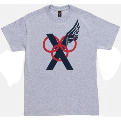 10.Deep Mens Rings Short-Sleeve Shirt, Heather Grey, 2X-Large