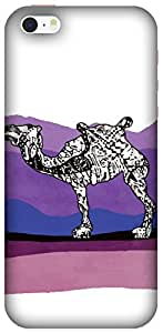 The Racoon Grip printed designer hard back mobile phone case cover for Apple Iphone SE. (Camel Stor)