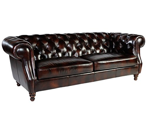 Lazzaro 1011 Chesterfield Leather Sofa - In Stock 0