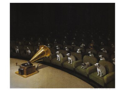 His Master s Voice Art Poster Print by Michael Sowa 28x20 Art Poster Print by Michael Sowa 28x20B0000W8AKK