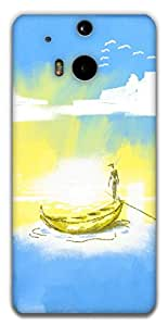 The Racoon Lean Calm Waters hard plastic printed back case / cover for HTC One (M8)