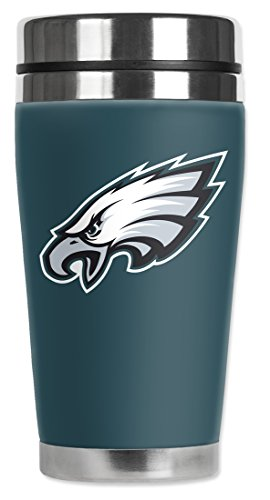 Nfl - Philadelphia Eagles - Mugzie® Brand 16-Ounce Travel Mug With Insulated Wetsuit Cover
