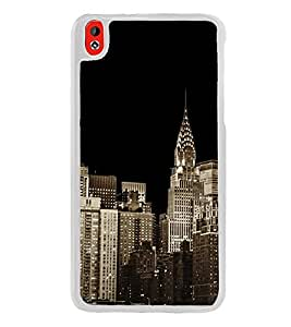 City Scape 2D Hard Polycarbonate Designer Back Case Cover for HTC Desire 816 :: HTC Desire 816 Dual Sim :: HTC Desire 816G Dual Sim