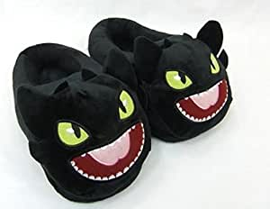 """DreamWorks How to Train Your Dragon Dreamworks How To Train Your Dragon How To Train Your Dragon Toothless Plush Slipper Approx 11"""" Long"""