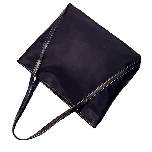 Longra Moda delle ragazze delle donne di cuoio borsa di acquisto (Nero)