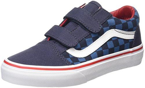 vans-old-skool-v-zapatillas-infantil-azul-checkerboard-blue-navy-31-eu