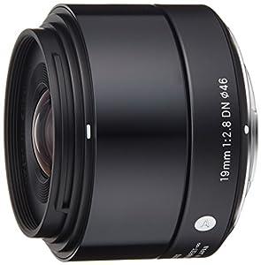 Sigma 19mm f2,8 DN Objektiv (Filtergewinde 46mm) für Micro Four Thirds Objektivbajonett schwarz