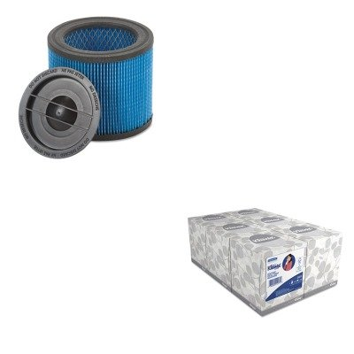 Kitkim21271Sho9039700 - Value Kit - Shopvac Ultra-Web Cartridge Filter For Hangup Vacs (Sho9039700) And Kimberly Clark Kleenex White Facial Tissue (Kim21271) front-559045