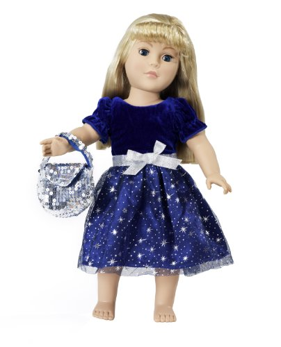 "18 Inch Doll Clothes | Midnight Star Christmas Dress Outfit | Fits 18"" American Girl Dolls 