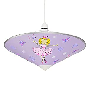 Lovely Purple And Pink Fairy Princess Children's Bedroom Ceiling Pendant Light Shade Uplighter