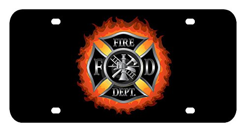 L200 FIREMAN FIRE MAN License Plate Front Custom Novelty Tag Vanity Frame Holder Wrap Wraps