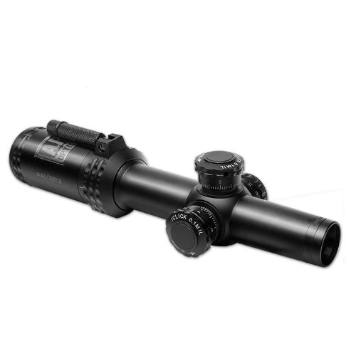 Bushnell-AR-Optics-FFP-Illuminated-BTR-1-BDC-Reticle-AR-223-Riflescope-with-Target-Turrets-and-Throw-Down-PCL-1-4x-24mm