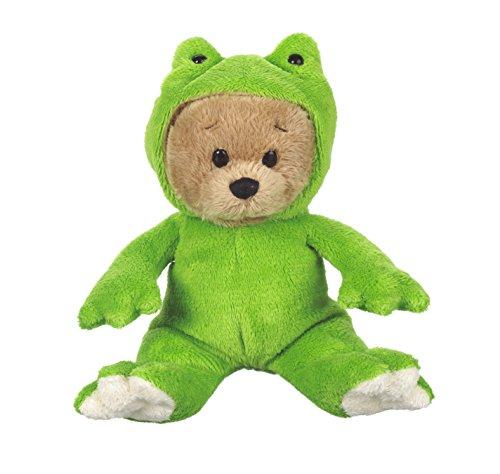 """Ganz 6"""" Wee Bear Knit Plush, Frog"""
