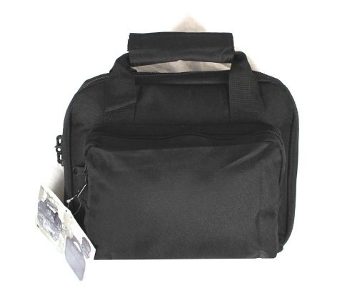 For Sale! 11 Black Soft Padded Pistol Range Bag Hand Gun Case