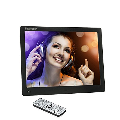 Koolertron 4:3 Widescreen 10 /7/8/12.1/14 Inch Lcd Digital Photo Frame Video Player Music Player Hd 1024*768 High Resolution Sd/Mmc/Ms - Usb Slots As Christmas Gifts (Black, 10 Inch)