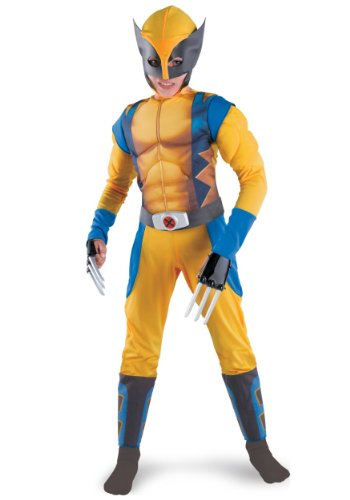 Disguise DI50555-M Boys Wolverine Origins Muscle Chest Costume Size Medium (Wolverine Muscle Costume)