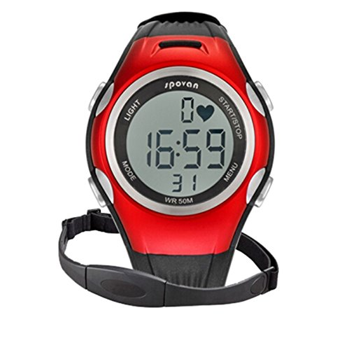 Sport Pulse Heart Rate Monitor Calories Counter Watches Chest Strap Color Green