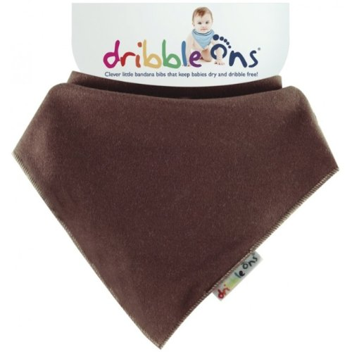 Bright Chocolate Dribble Ons Dribble Bib