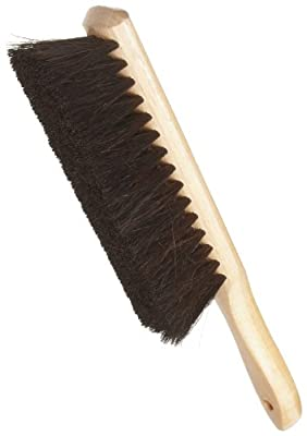 "Best Natural Horsehair Counter Duster w/Wood Handle, 2 1/2"" x 8"" - Weiler 71019"