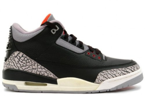 55b294426db17c Air Jordan 3 Retro Black Cement 2001 Retro Nike Air 136064 001 size ...