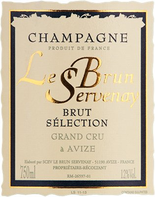N.V. Lebrun-Servenay Brut Selection Grand Cru, Champagne 750Ml