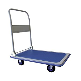 "RWM Casters PT-SS-S Steel Folding Handle Platform Trucks, 330 lbs Capacity, 28"" Length x 18.3"" Width x 32.0"" Height"