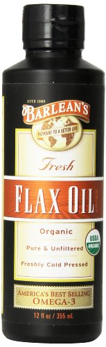 Barlean'S Organic Oils Fresh Flax Oil, 12 Ounce