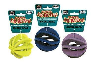 Vo-Toys #5429 3.5″Swirl Ball Dog Toy