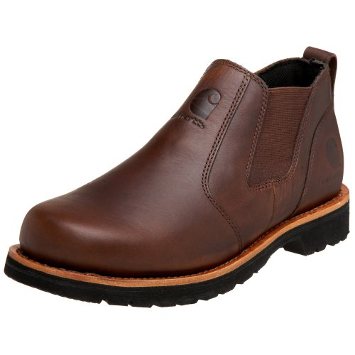 carhartt s 3603 romeo leather slip on work shoe brown 8 ee