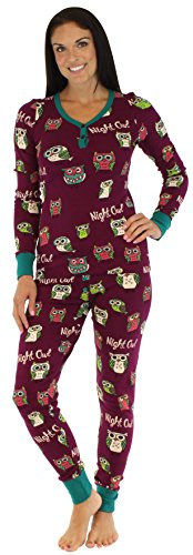 Lazy One Women's Sleepwear Thermal Long Sleeve Long John Pajama Pj Set