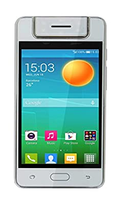 "Microkey E-9 4"" Touch Screen 1.3 GHZ Quad Core 180 degree rotating camera mart Phone (White )"