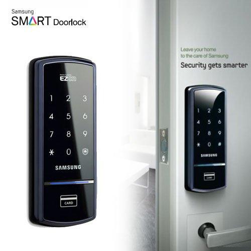 【SHS-1321(ブラック)】SAMSUNG SMARTデジタルドアロック [日本語説明書付] サムスン