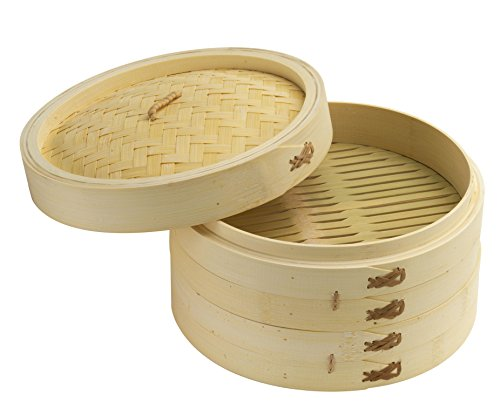 Joyce Chen 26-0013, 10-Inch Bamboo Steamer Set (Steamer Basket 10 Inch compare prices)