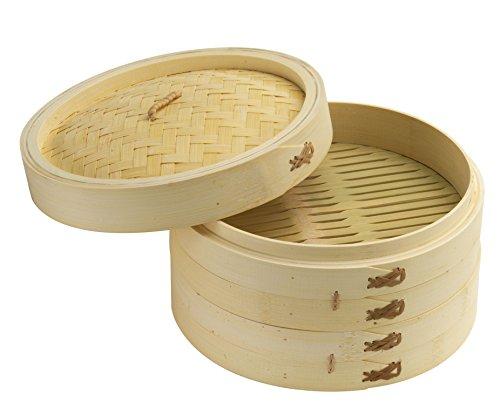 Joyce Chen 26-0013, Bamboo Steamer Set, 10-inch