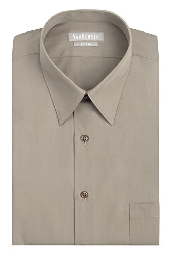 Van Heusen Men's Wrinkle Free Fitted Dress Shirt | Camel 16 x 32/33
