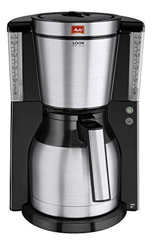 Melitta-101114-Cafetire-filtre-Look-Therm-DeLuxe-IV-verseuse-isotherme-AromaSelector-systme-anti-goutte-dtartrage-NoirAcier