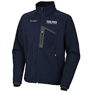 NCAA Penn State Nittany Lions NCAA Crag Mtn Softshell Jacket by Columbia