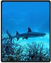 Mayers 40quotWx50quotL Small Comfortable Washable Coral Shark Fleece Throw Blanket