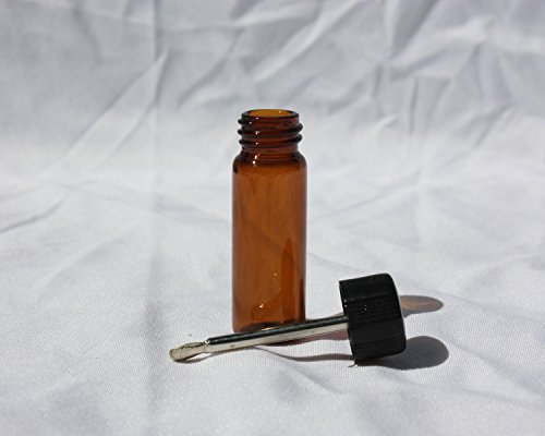 Amber Glass Snuff Vial Telescoping Telescopic Spoon Spice Bullet Snorter Bottle (1) (Snuff Bottle Spoon compare prices)